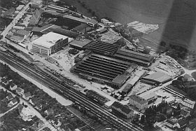 The GLAS factory around 1960